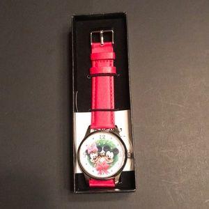 Disney Mickey and Minnie Christmas Watch